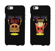 Cute BFF Phone Cases - Hamburger and Fries Phone Covers for iphone 4, iphone 5, iphone 5C, iphone 6, iphone 6 plus, Galaxy S3, Galaxy S4, Galaxy S5, HTC M8, LG G3