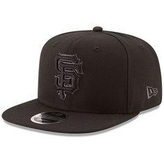 San Francisco Giants New Era Metallic Mark Original Fit 9FIFTY Snapback Adjustable Hat - Black