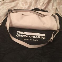 """Gianni Chiarini purse like new CONDITION: Like New.  Handle drop 10"""" Maximum length of adjustable/detachable shoulder strap 44""""  Genuine pebbled leather Large interior zip and two multifunctional slip pockets. Full zipper closure Silvertone hardware Nylon fabric Comes with a dust bag Made in Italy COLOR: Beige Gianni Chiarini Bags Hobos"""