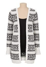 patterned stripe open front cardigan - maurices.com