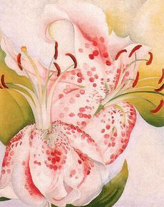 Georgia O'Keeffe Pink Spotted Lilies, 1936
