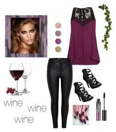 """""""wine"""" by csarm61364 on Polyvore featuring City Chic, Designers Guild, Charlotte Tilbury, Libbey, Nearly Natural, Terre Mère and Charlotte Russe"""