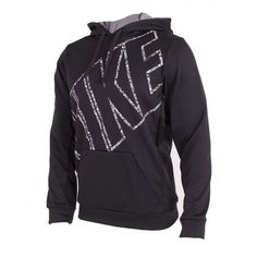 94285c71c4207e New Nike Mens Black Therma Fit Logo Swoosh Camo Pullover Hoodie Size Large