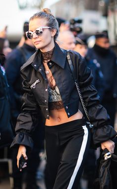 Josephine Skriver from Victoria's Secret Models Off-Duty Style We're calling it: Exaggerated sleeves are going to be all the rage next season.