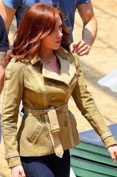 http://www.celebsleather.com/captain-america/New-Scarlett-Johansson-Captain-America-Civil-War-Jacket #scarlettjohansson #captain america