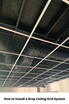 How to Install a Drop Ceiling Grid System Drop Ceiling Basement, Drop Ceiling Grid, Office Ceiling, Dropped Ceiling, Ceiling Design, Ceiling Ideas, Basement Remodeling, Remodeling Ideas, Ceiling Installation