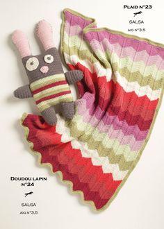 Modèle tricoté dans la laine CHEVAL BLANC. Qualité : SALSA