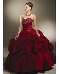 Google Image Result for http://promdresscheap.us.com/images/promdressesuk/burgundy-ball-gown-strapless-and-sweetheart-bandage-floor-length-quinceanera-dresses-with-beading-and-twist-draped-prom01254.jpg