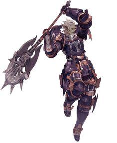 Elezen Male Marauder from Final Fantasy XIV: A Realm Reborn