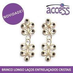novidade, access, brincos, swarovski, fashion, moda, bijoux