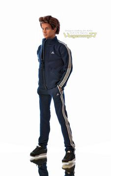 1/6 scale custom tracksuit jogging suit on Ken doll
