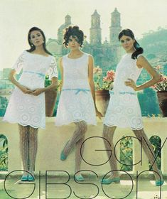 For Gay Gibson's Mexican-chapel. - Just Seventeen 60s And 70s Fashion, Seventies Fashion, Timeless Fashion, Teen Fashion, Vintage Fashion, 1960s Dresses, 1960s Outfits, Vintage Outfits, Retro Girls