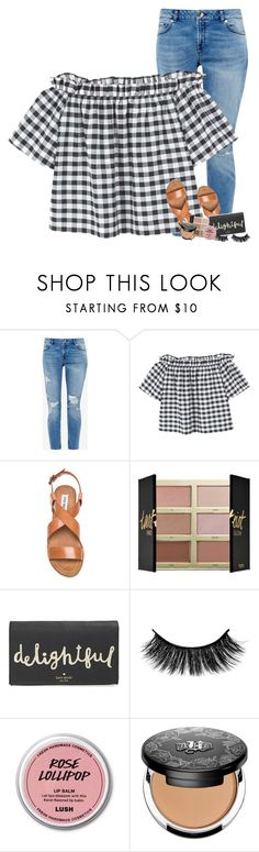 """cousin's graduation party tomorrow!!"" by mehanahan ❤ liked on Polyvore featuring Ted Baker, MANGO, Steve Madden, tarte, Kate Spade and Kat Von D"
