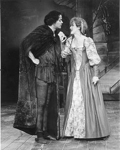 """With Raul Julia in the production of """"The Taming of the Shrew"""" at the Delacorte Theater in Central Park (1978)"""