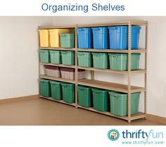 This is a guide about organizing shelves. Shelves can be a perfect way to help keep your home clean and tidy. However, those shelves have to stay organized themselves or they aren't helping as much as they could.