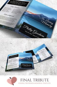 Funeral Program Template-V01 #funeral #template #obituary ...