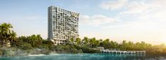 büro ole scheeren unveils abaca resort for cebu in the philippines Resorts In Philippines, Tree Canopy, Sky Garden, Urban Architecture, Plunge Pool, Outdoor Seating Areas, Tropical Landscaping, Cebu, Facade