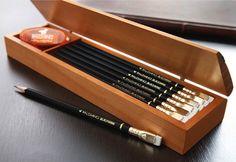 set of pencils to write, draw,..