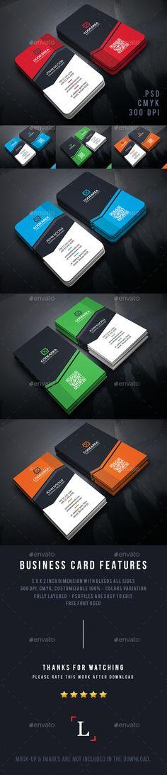 Shape Corporate Business Cards Template PSD #design Download: http://graphicriver.net/item/shape-corporate-business-cards/13576435?ref=ksioks