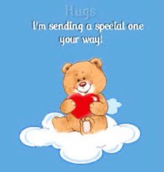 Hugs And Kisses Quotes, Hug Quotes, Hugs And Cuddles, Snoopy Quotes, Qoutes, Happy Teddy Bear Day, Valentines Day Teddy Bear, Good Morning Hug, Morning Love Quotes