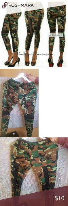 Army Mesh Leggings New never been worn or sold. Army mesh leggings, 83%Poly 14% rayon 3%Spandex. Pants Leggings