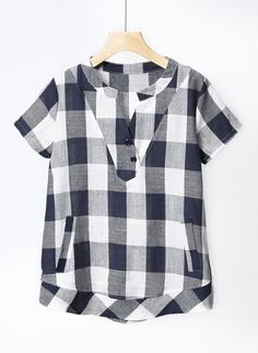 Swans Style is the top online fashion store for women. Checkered Shirt Outfit, Tunic Designs, Baby Dress Patterns, Shirt Blouses, Shirts, Embroidery Fashion, Casual Tops For Women, Mod Dress, Blouse Styles
