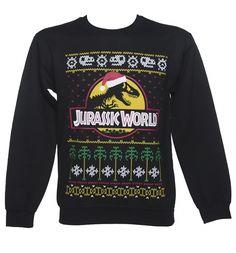 Unisex Black Jurassic World Fair Isle Christmas Sweater : TruffleShuffle.com