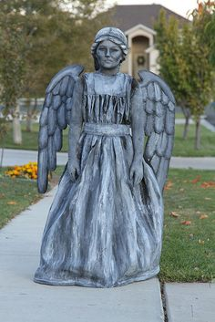 The Weeping Angel from Doctor Who. | 21 Awesome Kid's Halloween Costumes To Start Making Now