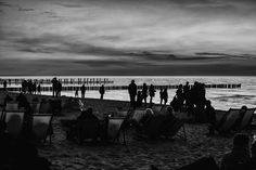 evening at the beach by joergW