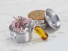 Mini Marmitas com Pão de ervas, Pimenta Rosa e Flor de Sal da Delicati di Maria