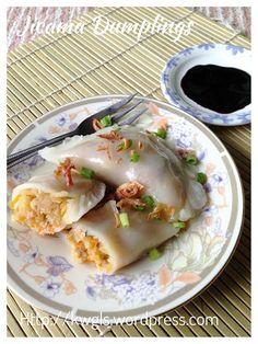 Chinese Steamed Bamboo Shoot dumplings with Jicama fillings #soon_kuih笋粿