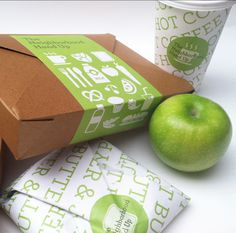 Craft boxes with a bright colored wrap to keep sealed containing BLT branding