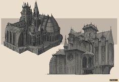 Steampunk City, Steampunk Design, Environment Concept Art, Environment Design, Minecraft Steampunk, Buildings Artwork, Sea Of Thieves, Architecture Background, Minecraft Designs