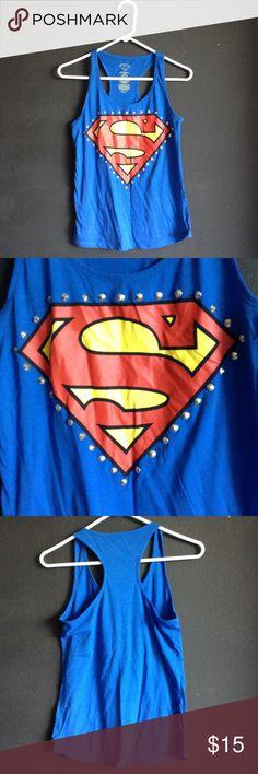 NWOT superman tank NWOT superman racer back tank Tops Tank Tops
