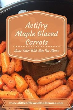 The best carrots you will make for your family. Your kids will ask you to make them again and again. http://www.alittleofthisandthatmama.com