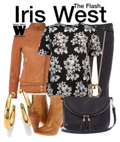"""""""The Flash"""" by wearwhatyouwatch ❤ liked on Polyvore featuring Armani Jeans, Acne Studios, Michael Kors, Frye, Warehouse, Luv Aj, television, wearwhatyouwatch and plus size clothing"""