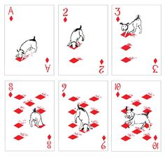 Card Design Discover Pack of Dogs Playing Cards - Poker Cards - Playing Card Set - Unique Gift - Illustrations - Special - Deck of Cards Graffiti, Playing Cards Art, Illustration Art, Illustrations, Cartomancy, Cat Cards, Deck Of Cards, Card Games, Art Projects