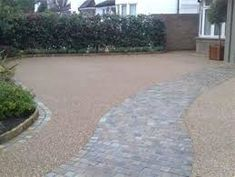 Image result for gravel driveway with path