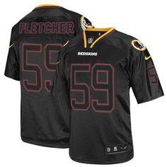 NFL Mens Elite Nike Washington Redskins http://#59 London Fletcher Lights Out Black Jersey$129.99