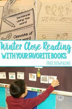 Winter Close Reading plus a FREE version of our Guiding Readers for the book The Mitten by Jan Brett.