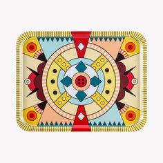 Plateau-rectangulaire-Joker-43-x-33cm-multicolore-v1