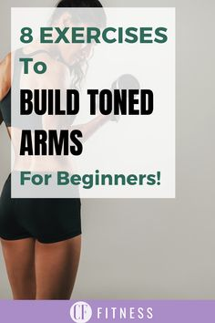 Top 8 Exercises to help you build toned arms for women!     #tonedarms#tone#muscle#fatloss Bicep Muscle, Muscle Tone, Get Toned, Toned Arms, How To Grow Muscle, Build Muscle, Eccentric Movement, Weight Lifting
