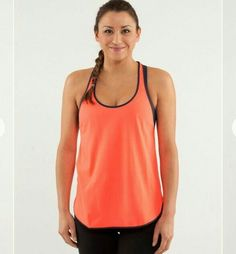8e01d7a2f Women's Lululemon 105 F Singlet Racerback Tank Top Small Striped Orange  #fashion #clothing #