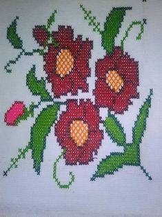 6 Word Stories, Cross Stitch Flowers, Cross Stitching, Napkins, Embroidery, Etsy, Handmade, Study Help, Kitchen Decor