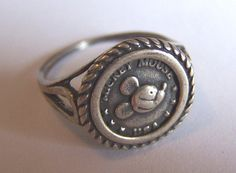 Vintage MICKEY Mouse Sterling Silver ring 1960's