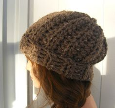 25% OFF-Crocheted Chunky Barley Slouch Hat
