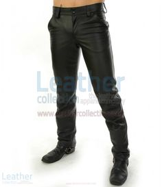Your legs will always look, feel and perform their best in a pair of Police Black Leather Pants and military pants for men. Check out our leather pants selection for the very best in unique or custom, handmade pieces from Leather Collection. Patent Leather Pants, Black Leather Jeans, Leather Men, Leather Joggers, Custom Leather, Green Leather, Motorcycle Pants, Motorcycle Leather, Black Flare Pants