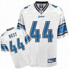 Jahvid Best Jersey White #44 Reebok NFL Detroit Lions Jersey    ID:973303884    $20