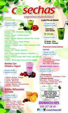 Cosechas expertos en bebidas - batidos de fruta y verdura