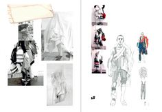 Design responds to problems: so what does Menswear look like in a world of increasing crisis? Fashion Portfolio Layout, Fashion Design Sketchbook, Fashion Sketches, Portfolio Design, Portfolio Ideas, Portfolio Book, Drawing Fashion, Dress Sketches, Art Sketches